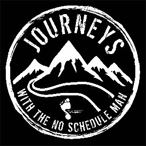 Journeys with the No Schedule Man Logo