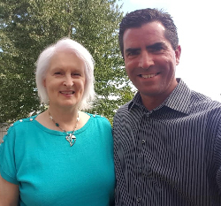 Sheila Stevenson with Kevin Bulmer
