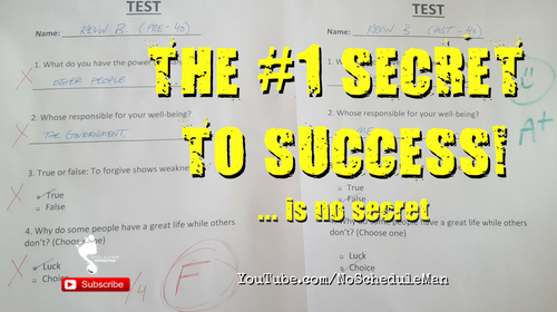 The #1 Secret to Success … Is No Secret